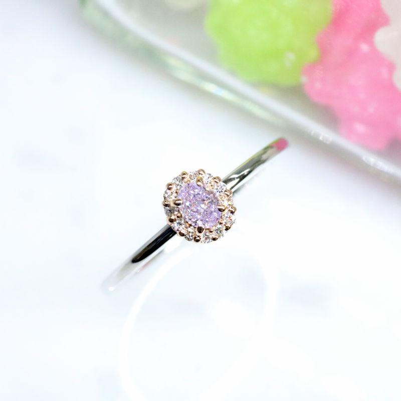 Luciole-Bridal Conpeito L-23 天然カラーダイヤモンド