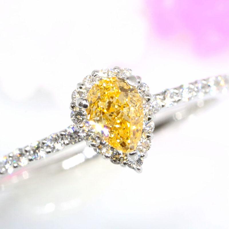Luciole Bridal Conpeito L-201 天然カラーダイヤモンド